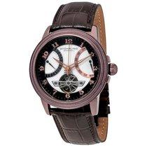 Stuhrling Original Saturnalia White Dial Men's Leather Watch