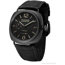 Panerai Radiomir 8-Days Manual 45mm Black Ceramic Mens Strap...