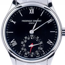 Frederique Constant 42mm Quarz neu Horological Smartwatch Schwarz