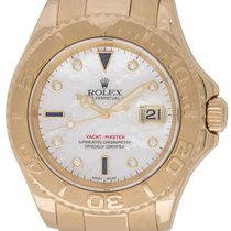 Rolex : Yacht-Master 'Serti' :  16628 :  18k Gold : Mother of...