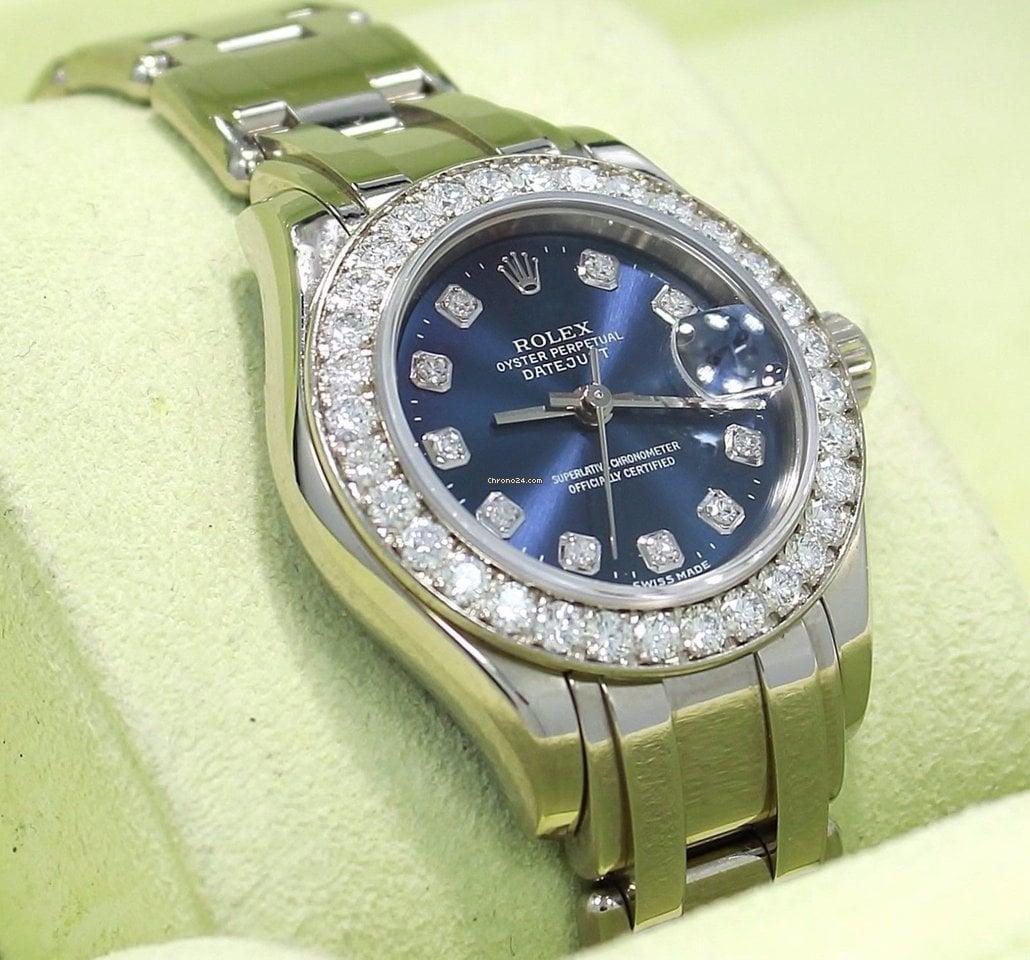 Rolex Lady-Datejust Pearlmaster 80299 подержанные