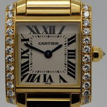Cartier Tank Française Yellow gold White