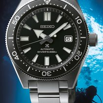 Seiko new Automatic Center Seconds Luminescent Hands Rotating Bezel Screw-Down Crown Quick Set Only Original Parts Luminous indexes 42,6mm Steel Sapphire Glass