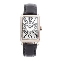 Franck Muller Long Island White gold 36mm Silver Arabic numerals