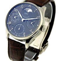 IWC Automatic Grey 42.3mm pre-owned Portuguese Perpetual Calendar