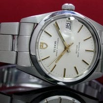 Tudor Steel Automatic Silver No numerals 34mm pre-owned Prince Oysterdate
