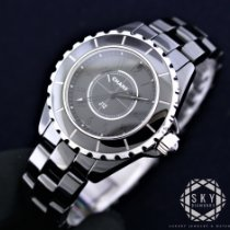Chanel Ceramic Quartz Black 29mm new J12
