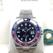 Rolex 116719BLRO GMT Master II 18K WHITE GOLD RED BLUE Bezel...