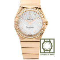 Omega Constellation Quartz Or rose 27mm Blanc