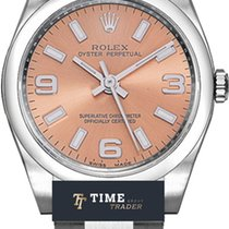 Rolex Oyster Perpetual 26 Acero 26mm Rosa Árabes