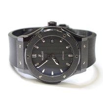Hublot Classic Fusion 40mm Ceramic Watch on Rubber Strap 581.CM