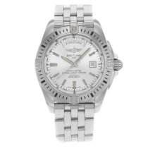 Breitling Galactic 44 Steel 44mm Silver No numerals United States of America, New York, New York