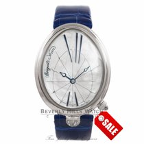 Breguet Reine de Naples Steel 35.5mm Mother of pearl Arabic numerals