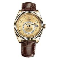 Rolex Sky-Dweller Жёлтое золото 42mm Цвета шампань Римские