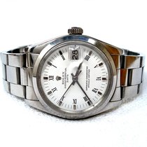 Rolex Oyster Perpetual Date Acero 35mm Blanco Sin cifras