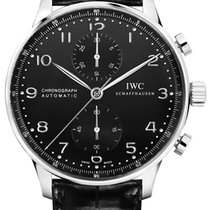 IWC Portuguese Chronograph Steel 40.9mm Black Arabic numerals