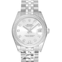 Rolex White gold Automatic Silver 31mm new Lady-Datejust
