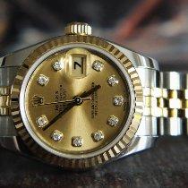 Rolex Lady-Datejust Aur/Otel 26mm De culoarea şampaniei