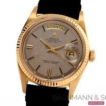 Rolex Day-Date 36 Oro giallo 36mm Argento Senza numeri