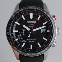 Seiko Sportura pre-owned 45mm Perpetual calendar GMT Leather