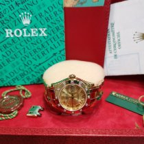 Rolex Pearlmaster Yellow gold Champagne No numerals