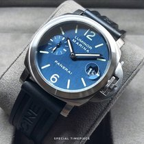 Panerai Luminor Marina Ocel 40mm Modrá Arabské