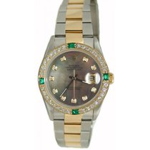 Rolex Men's Model 16203 Steel and Gold Oyster Band with Custom...