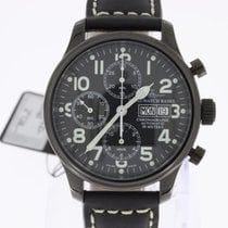 Zeno-Watch Basel NC Pilot Chronograph Automatic black PVD NEW