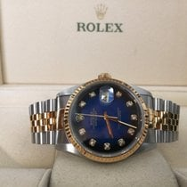 Rolex Datejust Jubilee Gold Steel Blue Vignette Diamond Dial...