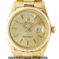 Rolex Day-Date President 18k Yellow Gold 36mm Champagne Stick...