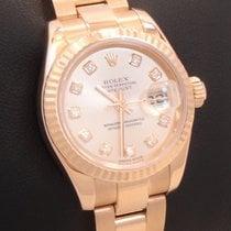 Rolex President 179175 18k Rose Gold Factory Diamond Dial...