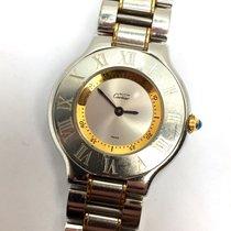 Cartier MUST DE 21 Gold-Plated & Steel Ladies Watch, Water...