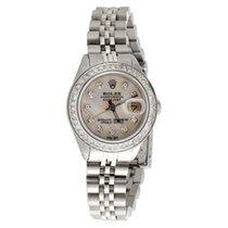 Rolex Ladies Stainless Steel Rolex DateJust Jubliee Diamond...