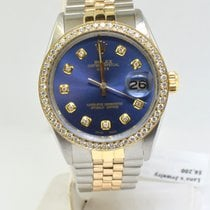 Rolex Oyster Perpetual Date Gold/Steel 35mm Blue No numerals United States of America, New York, Massapequa