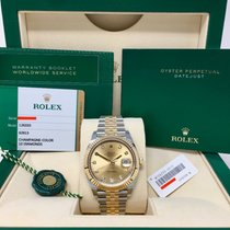 Rolex Datejust 41 Steel and Yellow Gold Champagne Diamond 126333
