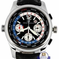 Girard Perregaux WW.TC Steel 43mm Black Arabic numerals United States of America, New York, Massapequa Park