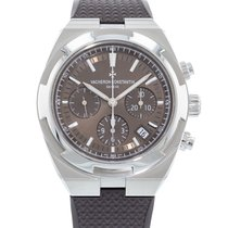 Vacheron Constantin Steel Automatic Brown 42.5mm pre-owned Overseas Chronograph