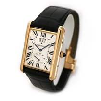 Cartier Rose gold Manual winding Silver Roman numerals 30mm pre-owned Tank Louis Cartier