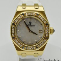 Audemars Piguet Royal Oak Lady pre-owned 33mm Mother of pearl Date Rubber