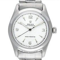 Rolex Stahl 31mm Weiß Arabisch