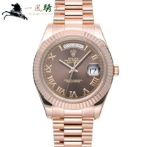 Rolex Day-Date II Rose gold 41mm Brown