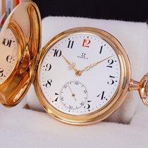 Omega Złoto różowe 53mm Manualny OMEGA pocket gold watch 14K savonette rose gold używany Polska, Klikuszowa