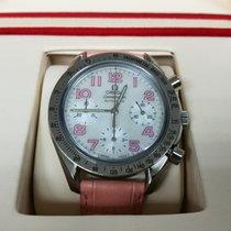 Omega Speedmaster 40mm Chronograph Pink Leather Strap