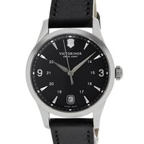 Victorinox Swiss Army Alliance Steel Womens Strap Watch Black...