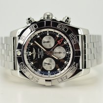 Breitling Chronomat GMT AB0410 Black Dial / Silver Sub Dials