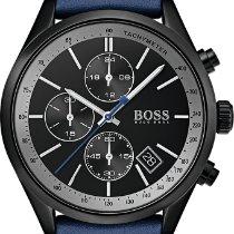 Hugo Boss Chronograph 44mm Quarz neu Schwarz