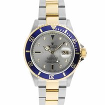 Rolex Submariner Date Gold/Steel 40mm Silver No numerals United States of America, Maryland, Towson, MD
