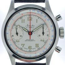 Aristo Steel Chronograph Silver Arabic numerals 34.7mm pre-owned