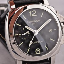 沛納海 Luminor 1950 3 Days GMT Automatic 鋼 42mm 黑色 阿拉伯數字 香港, Hong Kong