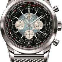 Breitling Transocean Chronograph Unitime Steel 46mm Black No numerals United States of America, New York, New York